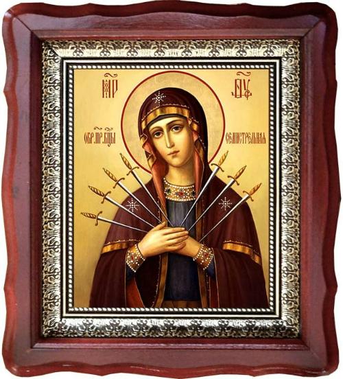 Открытка богородица семистрельная, открытки своими